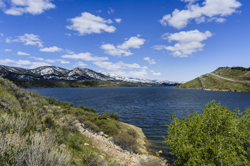 The beautiful Horsetooth Reservoir outside of Fort Collins, Colorado.