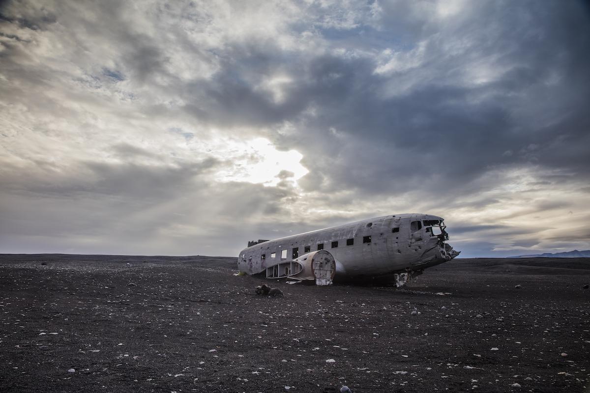 Sólheimasandur plane in Iceland