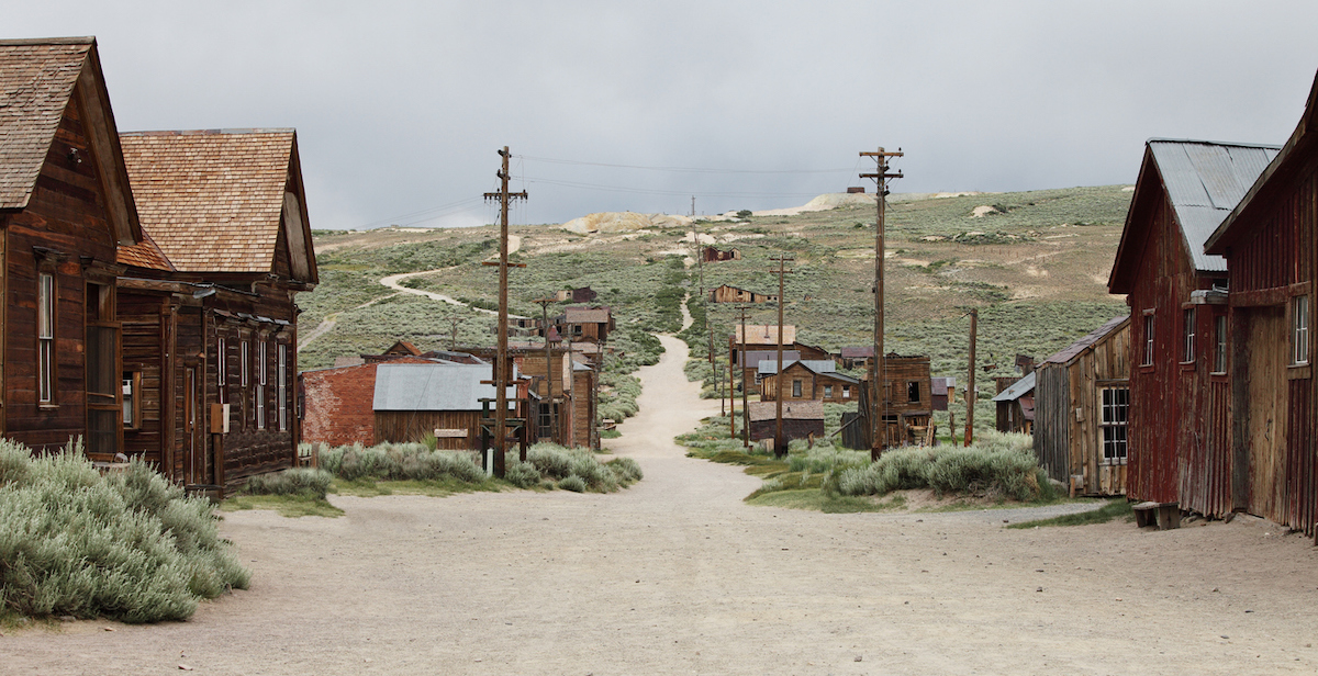 Bodie,California, one of oldest and largest ghost towns still standing.