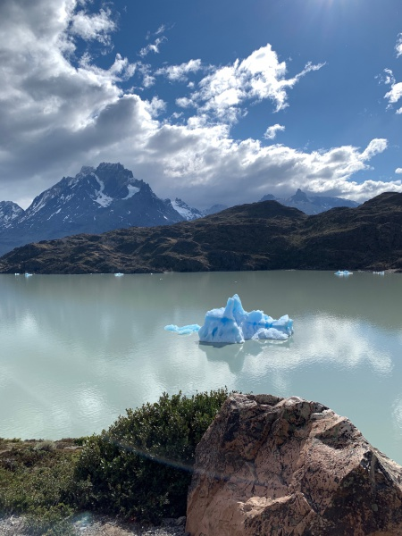 Icebergs and glaciers in Torres del Paine National Park
