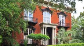 red brick house in savannah