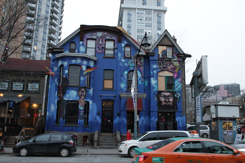 a painted building in toronto canada