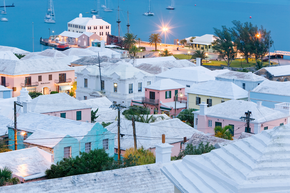 Bermuda also referred to as the Bermudas or the Somers Isles, is a British overseas territory in the North Atlantic Ocean, located off the east coast of the United States. Its capital city is Hamilton.
