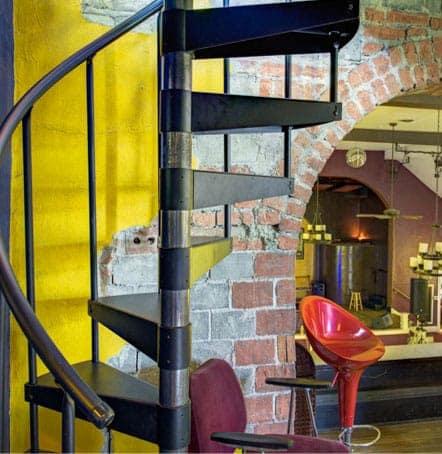 diy industrial spiral stair kit