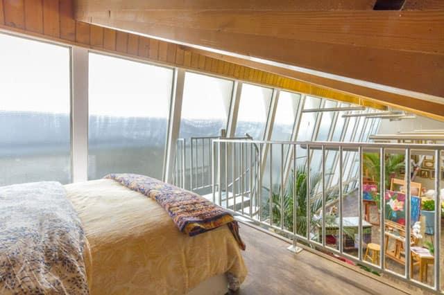 trendy bedroom loft in studio