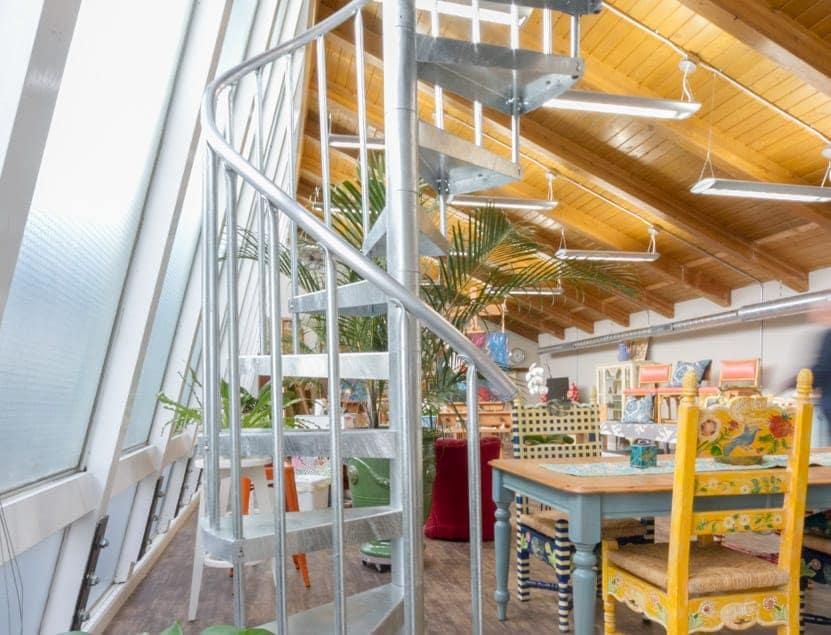 galvanized interior spiral staircase