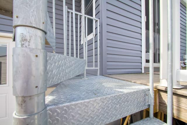 non slip steps outdoor galvanized spiral staircase