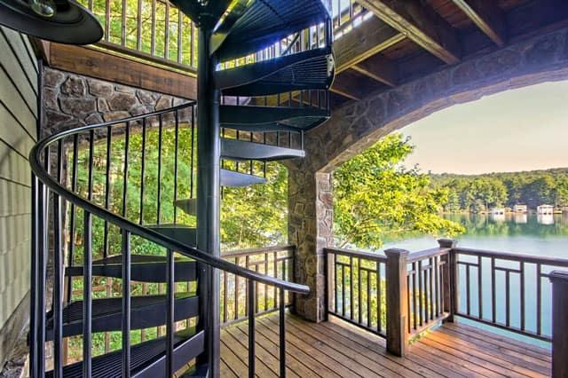 code compliant outdoor spiral staircase