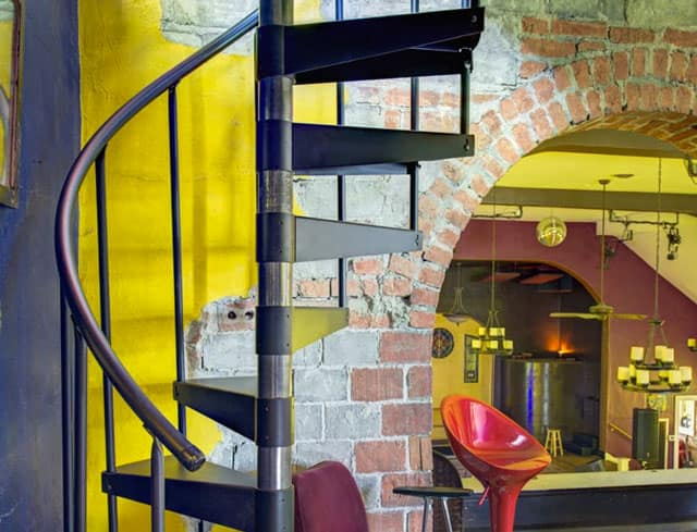 spiral staircase in church renovation