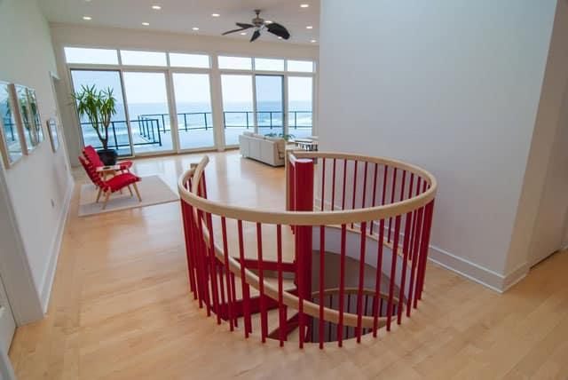 custom color railing well enclosure