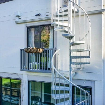 Lovely Durable Multistory Deck Spiral Staircase Seattle