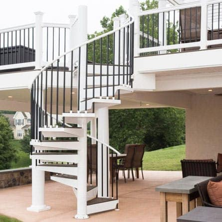 Outdoor Living Space With Spiral Stair