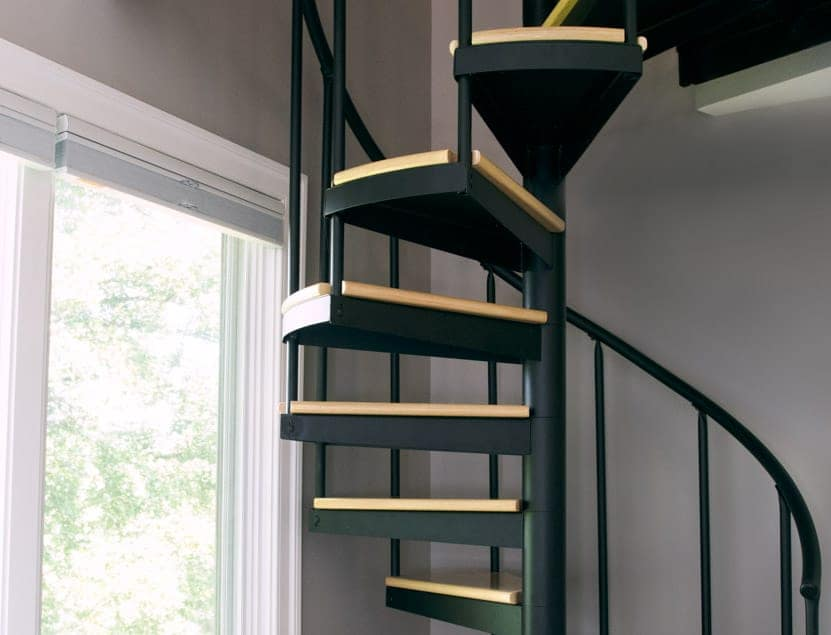 Classic Steel Deck Spiral Staircase Small Space Deck ...