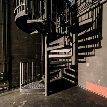 backstage utility spiral stair