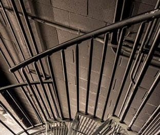custom manufactured utility spiral staircase