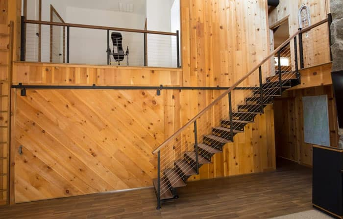 rustic straight stair kit