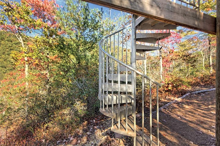 safe code compliant outdoor spiral stair