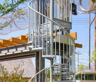 overlook custom spiral stair