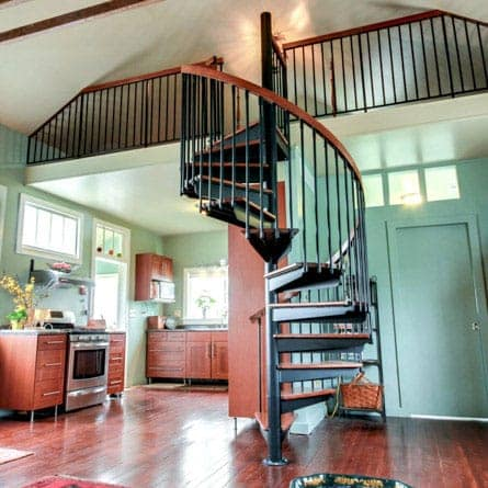Residential Loft Steel Spiral Staircase