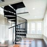 condo powder coated steel spiral staircase