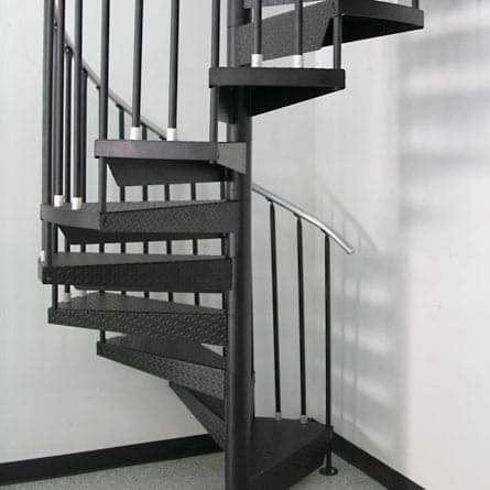 garage steel spiral staircase