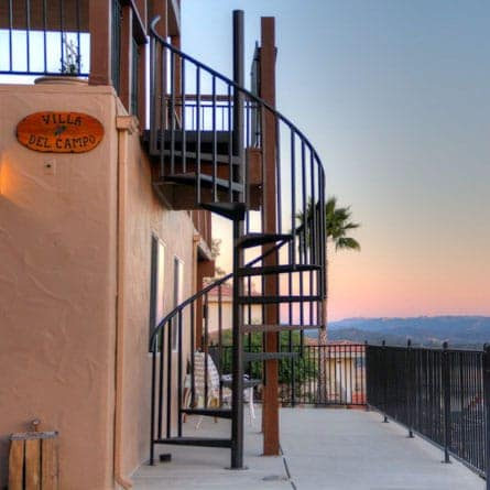 california balcony sprial staircase