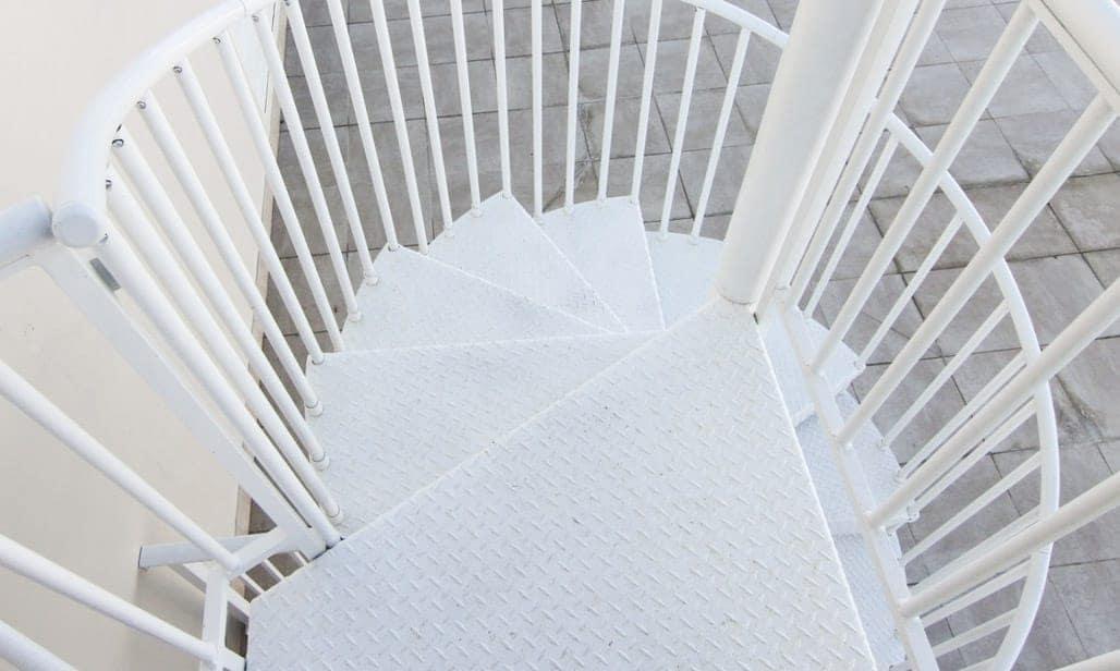 safe roof top deck spiral stair