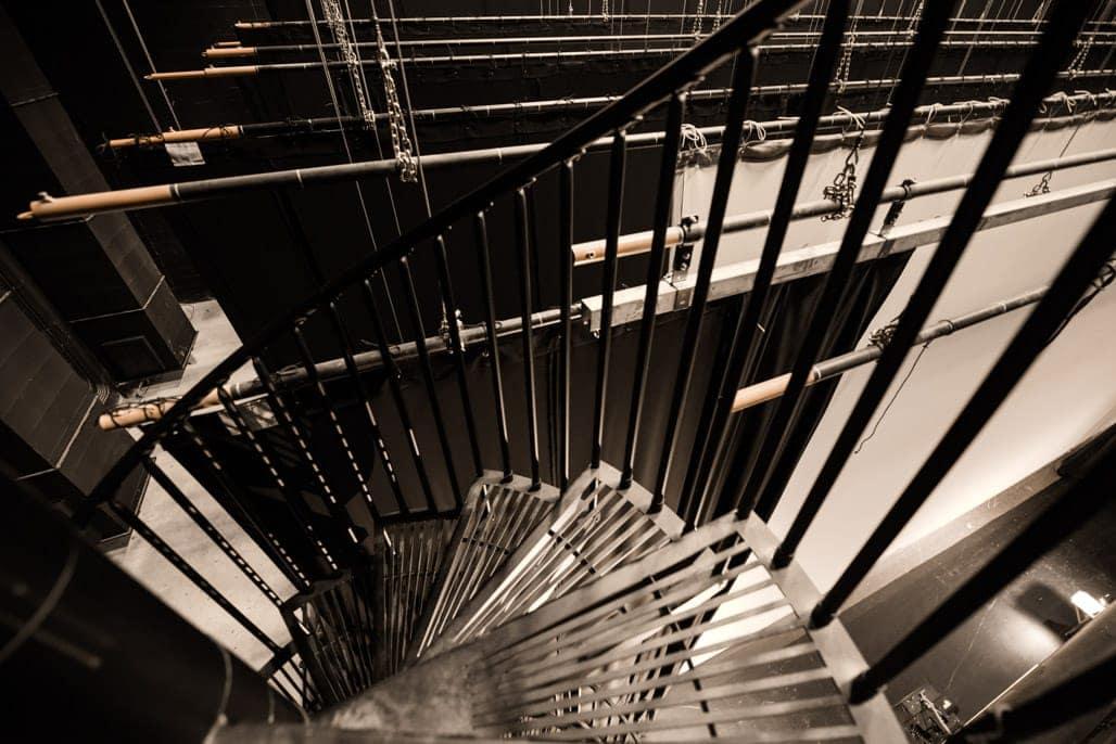 open grate steel safety steps