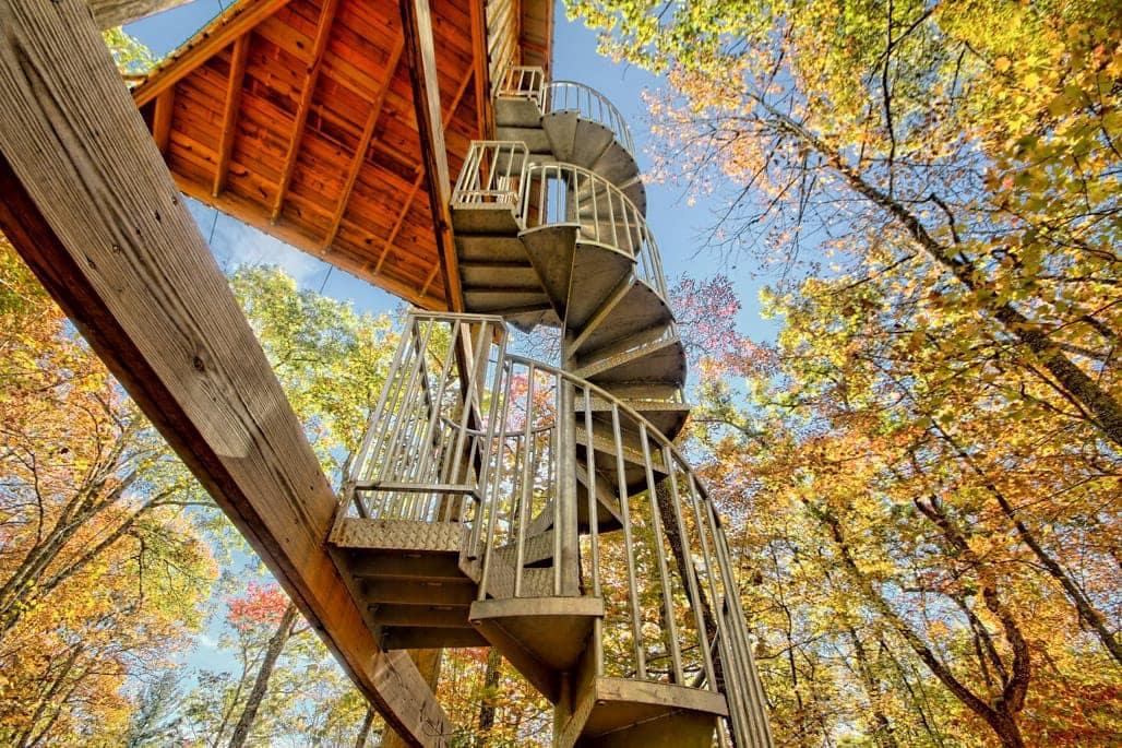 zipline galvanized spiral staircase