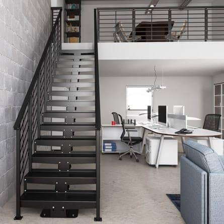 office-straight-stairs