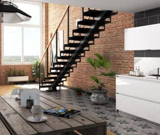 Designed So Any Two Average Homeowners Can Assemble It With Little  Difficulty In The Course Of A Weekend, This Steel Stair Has A  Straightforward Design And ...
