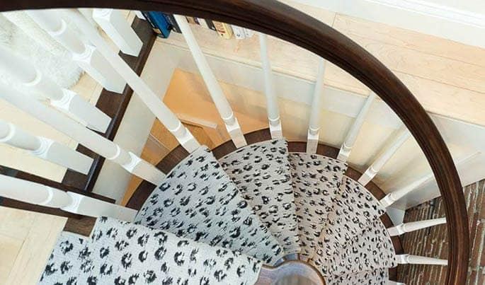 custom design solid wood spiral staircase