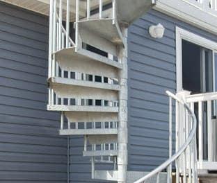 galvanized spiral staircase kit gallery
