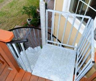 weatherproof finishes galvanized spiral stair