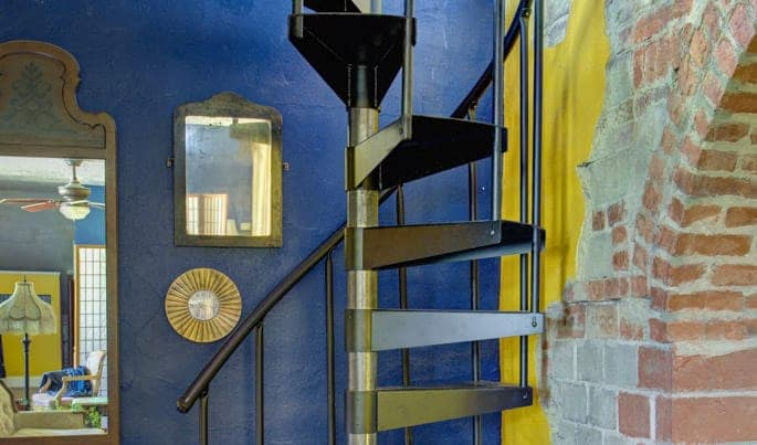 simple diy spiral staircase