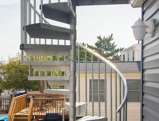 adjustable sleeve galvanized spiral staircase