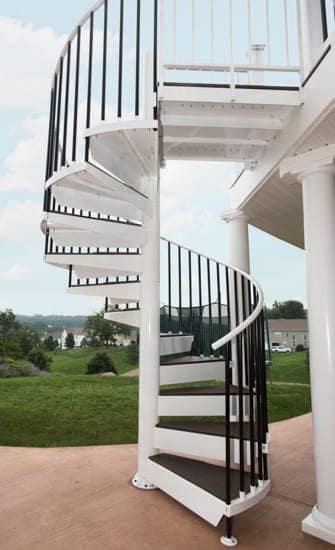 deck spiral stairs durability