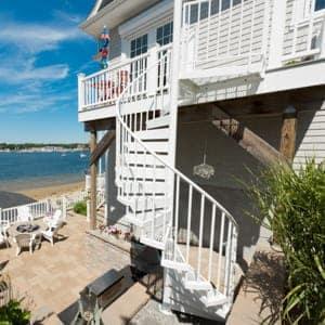 custom built deck stairs