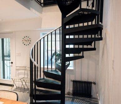 configurable steel spiral stair gallery