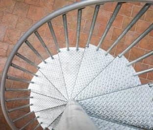premade galvanized outdoor staircase