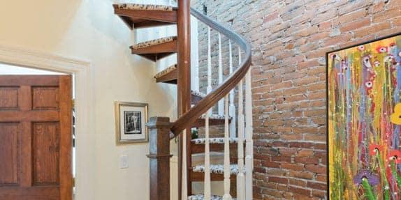 attic-spiral-staircase