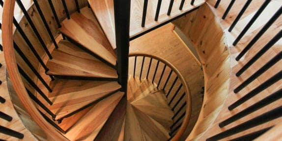 Captivating Basement Spiral Stairs