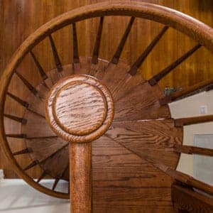 solid wood spiral staircases