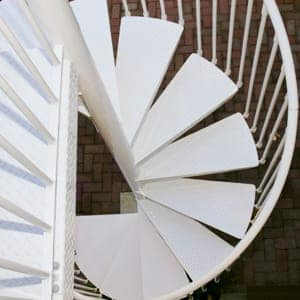 aluminum material spiral stairs