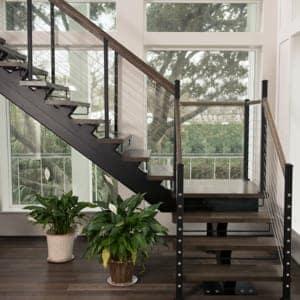 durable floating stair designs