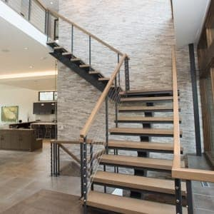 custom interior floating staircase