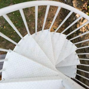 spiral staircase fire escapes