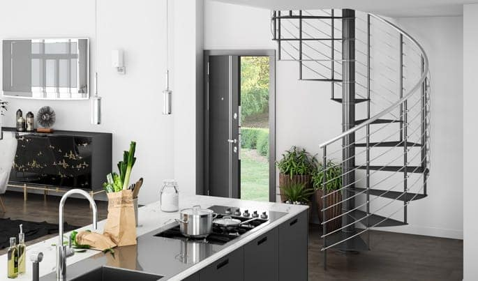 stylish metal staircase kit
