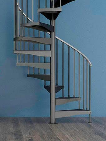 basic budget steel spiral staircase