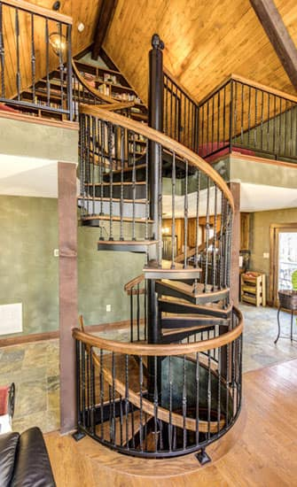 wrought iron spiral stairs
